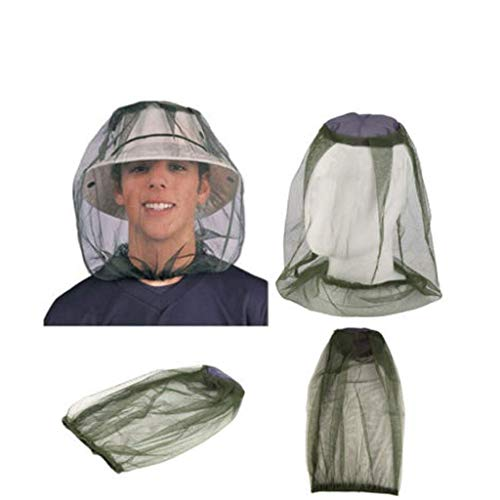 ❤️Ywoow❤️ Protective Cap, Outdoor Head Face Protector Hat Cap for Bee Insect Mosquito Net Mesh Headgear