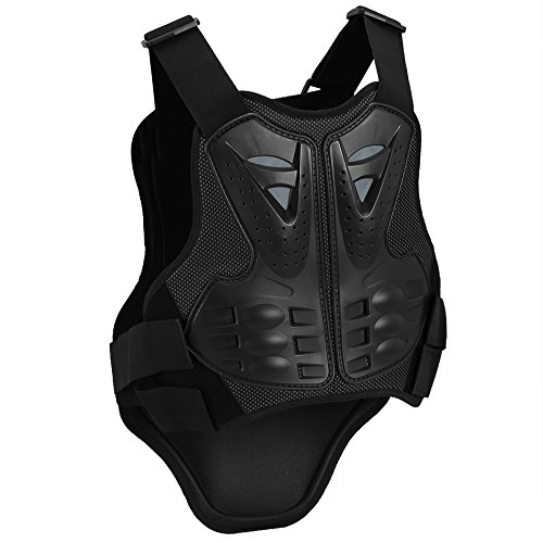 antWalking Cycling Motorcycle Vest Motocross Body Guard Skiing Riding Skateboarding Chest Back Protector Anti-fall Gear (XL)