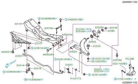 Subaru 2002 to 2007 Subaru Impreza WRX or STi Front Control Arm Front Bushing SET OEM PAIR