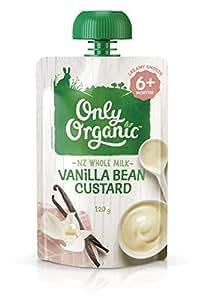 Only Organic Vanilla Bean Custard 6+ Months - 120g