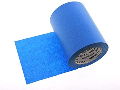 """1 Roll 6"""" inch WIDE 3D Printing Made In USA PRO Grade Blue Painters Tape Masking Clean Release Easy Removal NO RESIDUE (144MM x 55M 5.7 inch). 3D Printer bed grip deck cover 3D Prints Removal 60 Yd"""