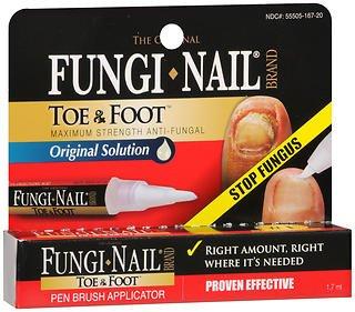 Fungi-Nail Toe & Foot Original Solution Pen Brush Applicator - 1.7 ML, Pack of 6 by Fungi Nail