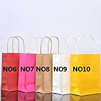 BEESCLOVER 10PCS/lot Kraft Paper Bag with Handles 21x15x8cm Festival Gift Bag for Wedding Birthday Party Jewelry Paper Bags