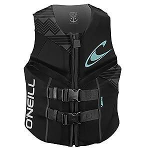 O'Neill Women's Reactor USCG Life Vest,Black,8, Black/Black/Black