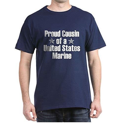 (CafePress Proud Marine Cousin Star Dark T Shirt 100% Cotton T-Shirt Navy)