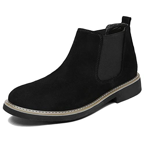 Chelsea Boots Uomo Pelle Oxblood Sicurezza Brogue Classico Autunno Martin Stivali Traspirante Desert Boots Snow Boots High Top Shoes Black