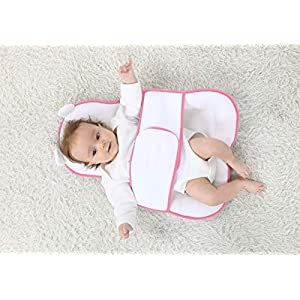 KAKIBLIN Baby Bed Mattress, Baby Protective Pillow Baby Sleeping Pad Bassinet Mattress Pad for Newborn Baby and Infant Age 0-12 Months, Pink