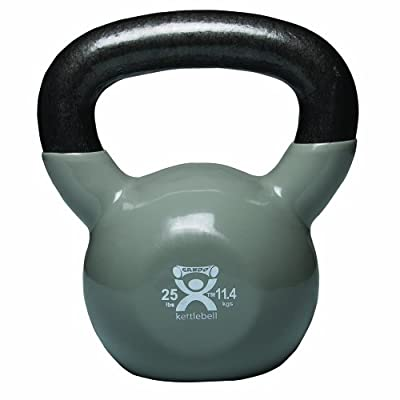 Cando 10-3196 Silver Kettle Bell 25 Lbs Weight by Cando