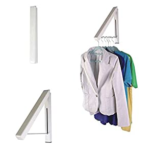 VIPASNAM-1pcs Stainless Folding Hanger Wall Mount Retractable Clothes Indoor Hangers Rack