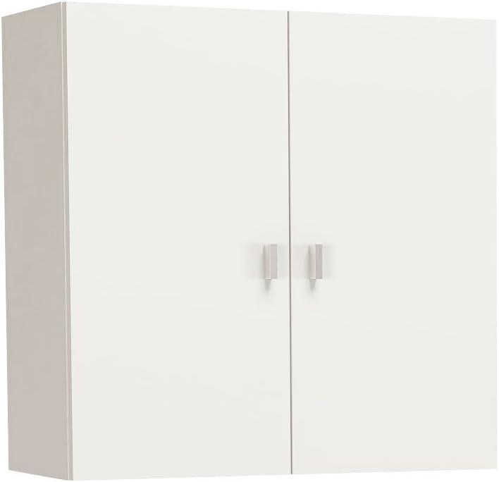 Meka-Block K-8001 - Mueble de colgar con dos puertas, 60 x 60 x 26.5 cm, color blanco
