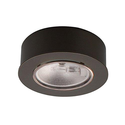 WAC Lighting HR-88-DB Low Voltage Round Halogen bi-pin Button in Dark Bronze Finish