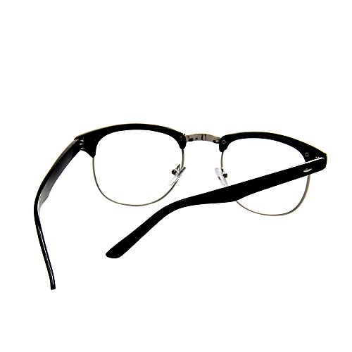6ef1ea4fba Shiratori New Vintage Classic Half Frame Semi-Rimless Clear Lens Glasses …