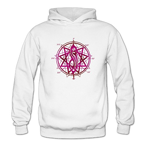 Firewei Slipknot Logo Women's Hooded Sweatshirt White ()