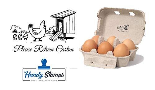 Please Return Carton - Egg Box - self Inking Stamp - 2 1/4