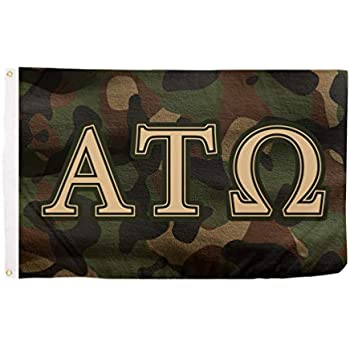 Amazon.com: Alpha Tau Omega carta fraternidad bandera griega ...