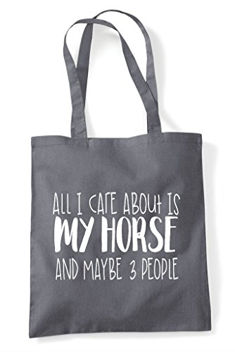 Themed Three All Bag My Dark About I People Horse Shopper Cute Maybe Grey Tote Funny And Animal Care Is 8RFOqr8w