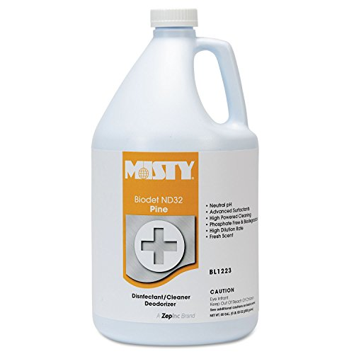 Misty  R1223-4 1 Gallon Pine Fragrance Biodet ND32 Liquid Disinfectant Deodorizer (Case of 4) ()