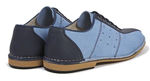 Delicious Junction Watt blau Leder Lace Up Bowling Schuh