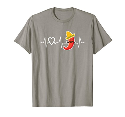 Chili Pepper T Shirt Heartbeat Love Peppers TShirt Mexican