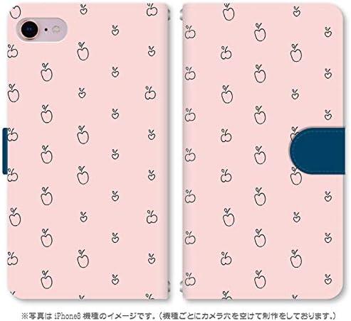 スマホ スマートフォン 手帳 スマホケース パターンシリーズ 【187_リンゴパターン|Xperia Ace SO-02L】