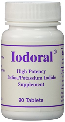 Optimox - Iodoral, High Potency Iodine Potassium Iodide Thyroid Support Supplement, 90 Tablets