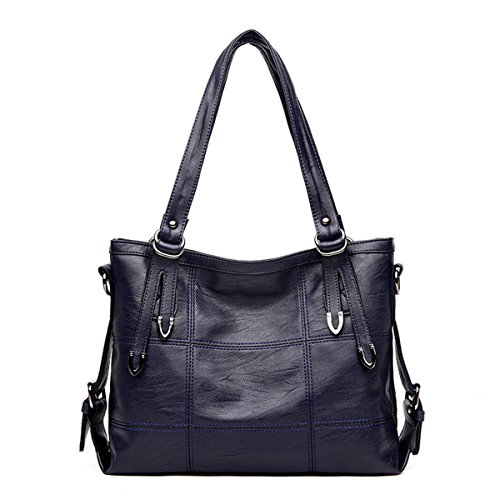 Women Bag Lady Blue Bags Famous Casual Brands Female Handle For Tote Stitching Handbags Big Bag Girls Women Soft Top Shoulder IYHw6xpqn
