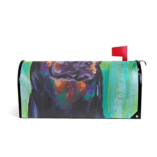 (Magnetic Mailbox Cover Doberman Pinscher Dog Wrap- Standard Size 20.8