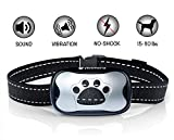 Avimera No Bark Dog Training Silver Collar [Upgraded] Intelligent NO Shock Humanely Stops Barking with Sound & Vibration for Small, Medium & Large Dogs Review
