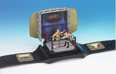 Tna Total Non Stop Action Wrestling - Total Non Stop Action TNA World Wrestling Championship Belt Playset - Includes AJ Styles and Jeff Jarrett 3