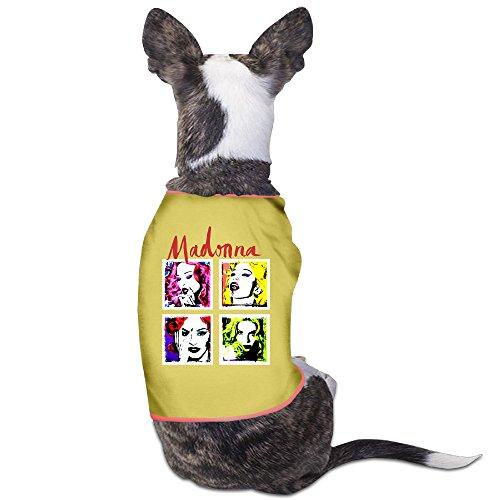 [PET-Cute Madonna Pop Art European Tour Pet Dog T-Shirt.] (80s Singers Costumes)