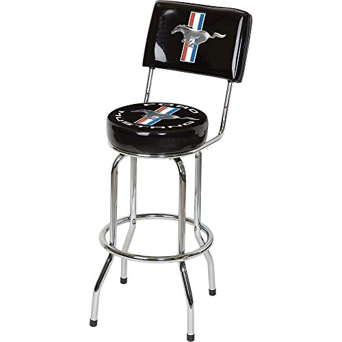 Mustang bar Stool W/Backrest - black (Seat Ace Mustang)