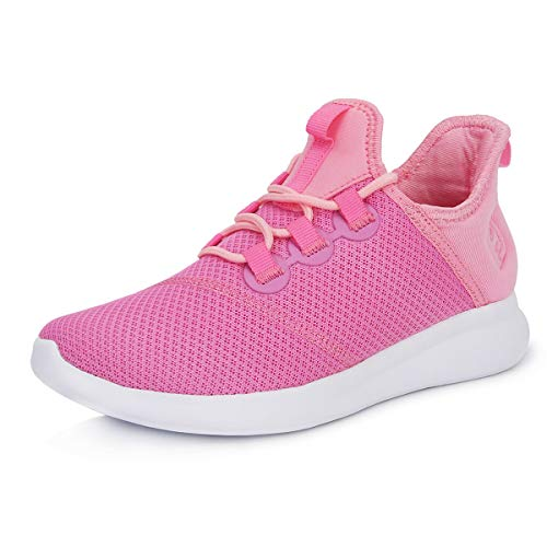 Scurtain Sneakers for Girls Womens Casual Athletic Running Shoes Pink 5.5M US