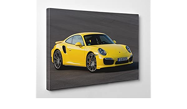 Gran arte tienda Porsche 911 Turbo 4 - Lienzo - De pared Art Giclée, 24 x 16 Inches/61 x 41 x 1,8 cm: Amazon.es: Hogar