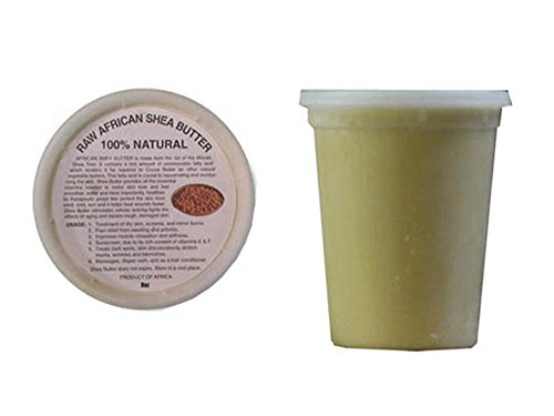 32oz African Shea Butter 100% Pure Unrefined Raw Shea Butter, From Ghana (Gold or Ivory) (Ivory)