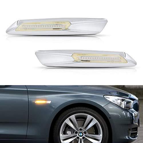 (GemPro 2PCS Clear Lens Amber LED Side Marker Turn Signal Light for BMW 1 3 5 Series E81 E82 E87 E88 E90 E91 E92 E93 E60 E61)