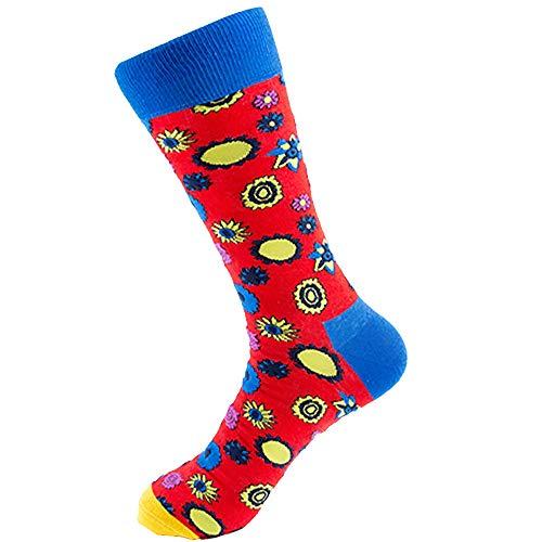 (SPE969 Men's Street Skateboard Socks Personality Forest Series Men's Socks)