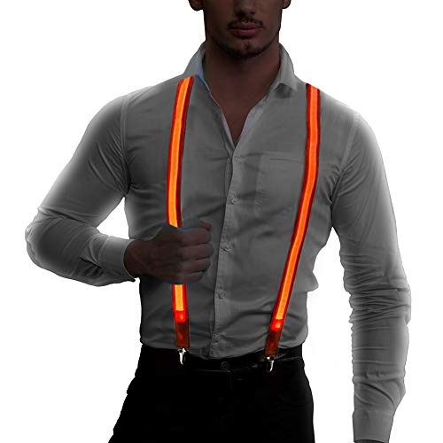 Ameyes Light up Suspenders,USB Rechargeable Men's Led Suspender -