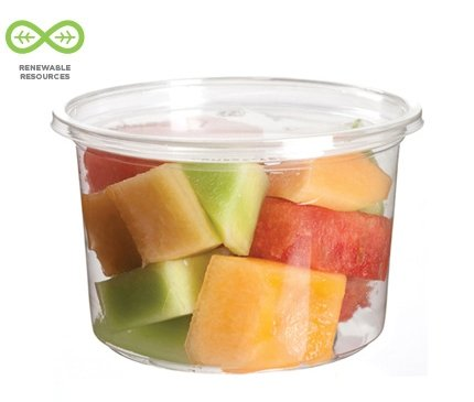 Bulk 5oz Round Deli Container PLA Food Containers: Eco-Products EP-RDP5 (4000 Disposable Containers)