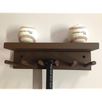 Baseball Softball Bat Rack Display Meant To Hold Up To 5 Full Size Bats And  3