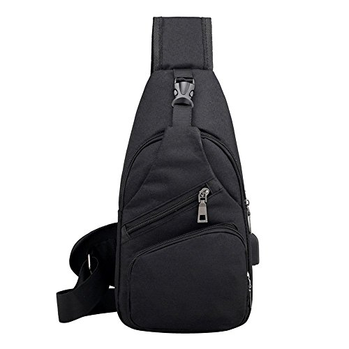 DealFox Small Crossbody Sling Backpack - Anti Theft Backpack for Traveling - Anti theft purse - Mini Sling Purse - crossbody travel Bags for Women Men - Multipurpose Casual - (Theft Proof)