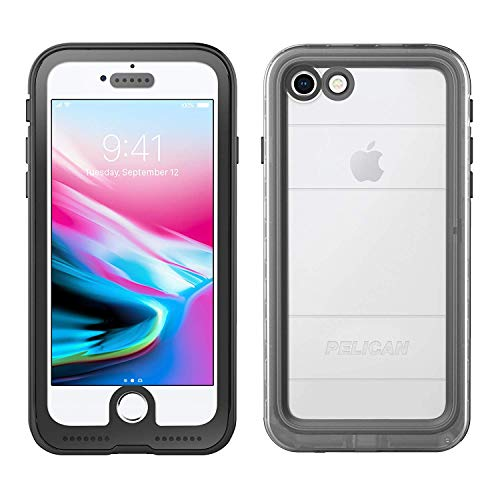 (iPhone X Case | Pelican Marine Waterproof Case for iPhone X (Clear/Black))