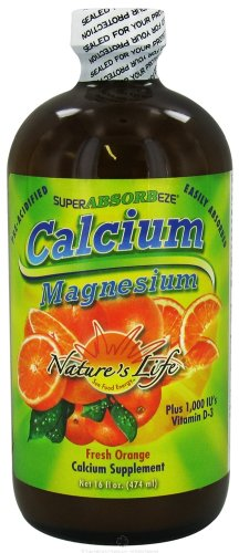 SuperABSORBeze Cal/Mag Preacidfied - Fresh Orange Nature's Life 16 oz Liquid