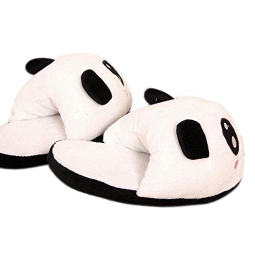 Kvinna Vinterskor, Egmy Panda Vinter Varm Plysch Antisladd Inomhus Hem Tofflor En