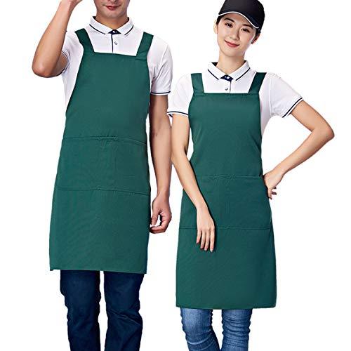 - Homsolver Three Pockets Adjustable Bib Adult Apron - Extra Long Ties - Kitchen Apron, Money Apron, Waitresses Apron - Cooking Kitchen Aprons Women Men