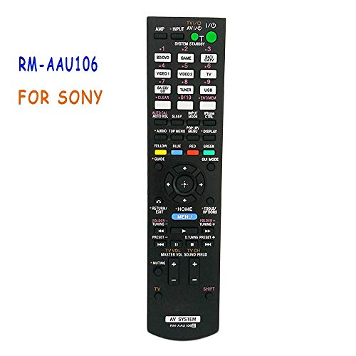Calvas New Replacement RM-AAU106 Remote Control For SONY AV SYSTEM STR-DH720 STR-DH730 STR-DH830 TDM-iP30 Multi AV Receiver Amplifier