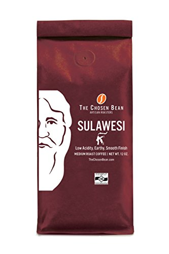 Sulawesi - The Chosen Bean Origin Micro Roasted Medium Roast Gourmet Ground Coffee 12-Ounce