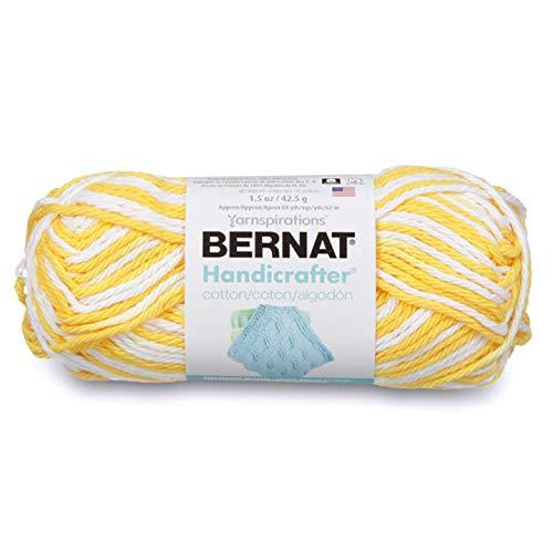 Bernat Handicrafter Cotton Ombres Yarn Lemon Swirl -