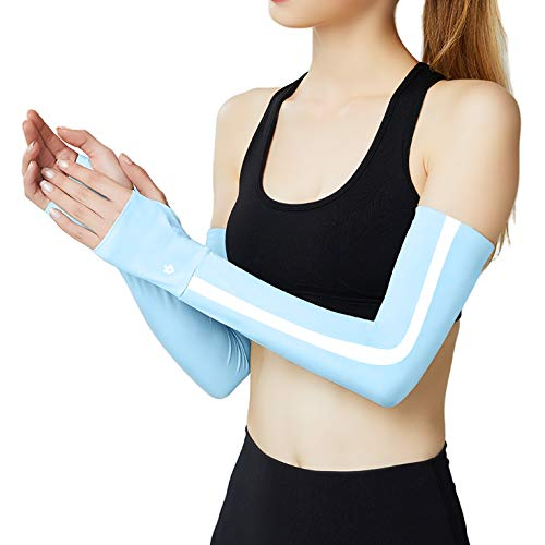 Arm Sleeves for Women UV Sleeves Cooling Arm Sleeves Long Cooling Sun Sleeves for Cycling, Running,Driving,Sports, Golf, Basketball,Hiking, Moisture Wicking