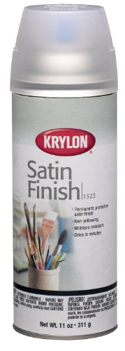Krylon K01323000 Gallery Series Artist and Clear Coatings Aerosol, 11-Ounce, Satin (Krylon Satin)