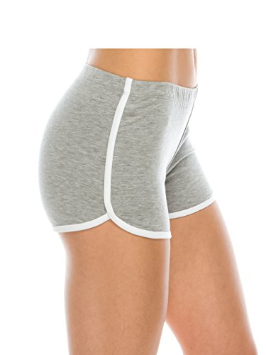 Athletic Running Exercise Gym Yoga Booty Dolphin Women's Running Shorts H Gray S ()